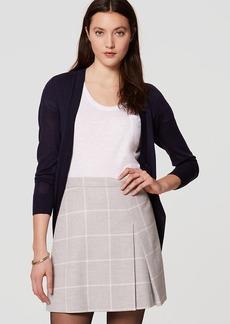 Windowpane Pleated Skirt