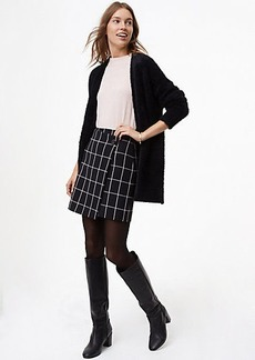 Windowpane Wrap Skirt