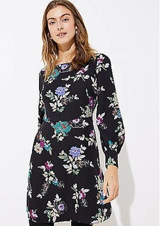 LOFT Winter Garden Square Neck Flare Dress