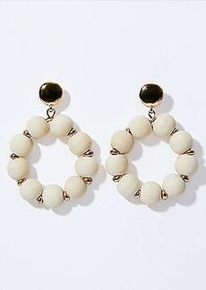 LOFT Wooden Bead Ring Earrings