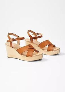 LOFT Wooden Wedge Sandals