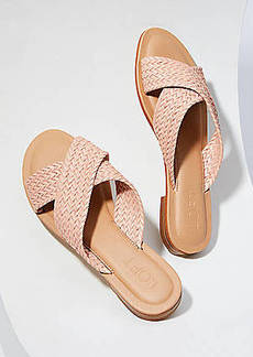 LOFT Woven Criss Cross Slide Sandals