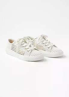 LOFT Woven Lace Up Sneakers