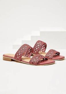 LOFT Woven Leather Sandals