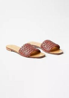 LOFT Woven Leather Slide Sandals