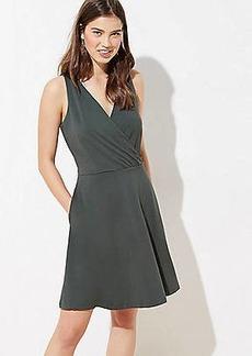 LOFT Wrap Flare Dress