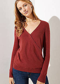 LOFT Wrap Sweater