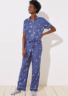 LOFT Zebra Pajama Pants