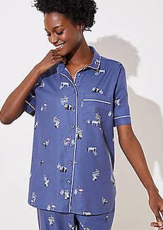 LOFT Zebra Pajama Top