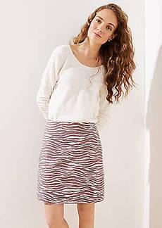 LOFT Zebra Shift Skirt