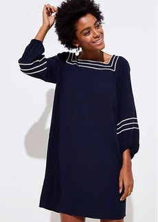 LOFT Zig Zag Blouson Swing Dress