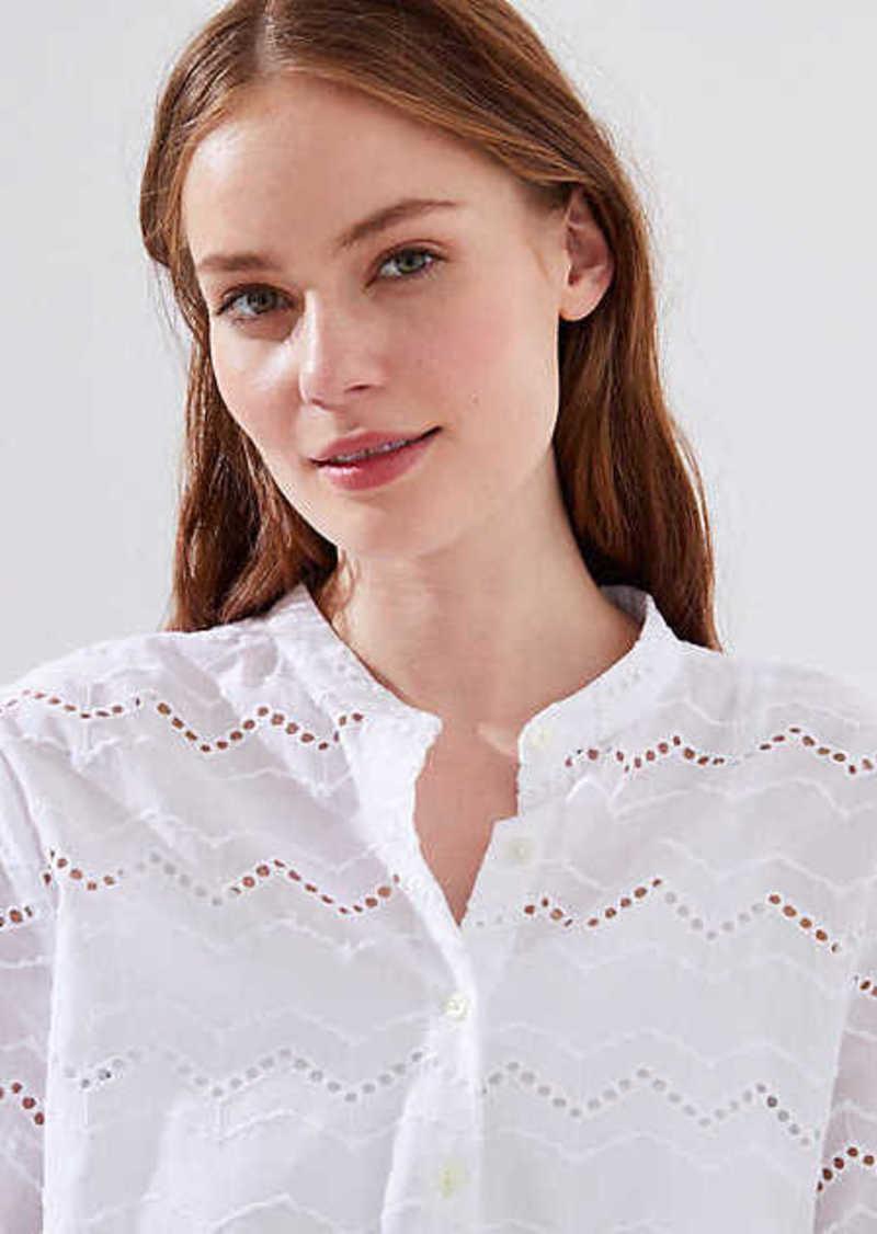 ce3a50ba1 LOFT Zig Zag Eyelet Button Down Shirt | Casual Shirts