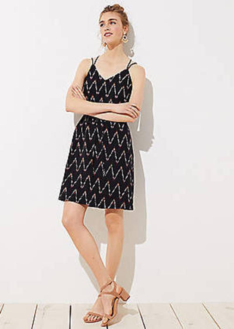 LOFT Zig Zag Strappy Cami Dress