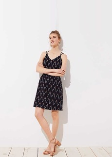 LOFT Zig Zag Strappy Cami Dress