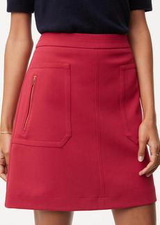 LOFT Zip Pocket Skirt