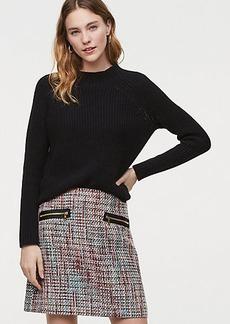 Zip Pocket Tweed Skirt