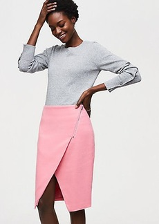 Zip Wrap Pencil Skirt
