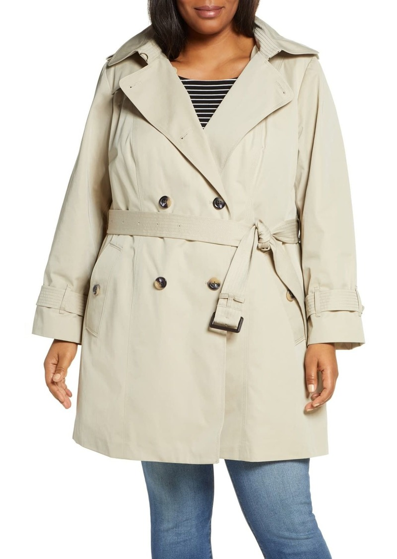 London Fog Heritage Hooded Trench Coat with Detachable Liner