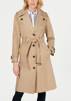 London Fog Belted Single-Breasted Water Repellent Trench Coat