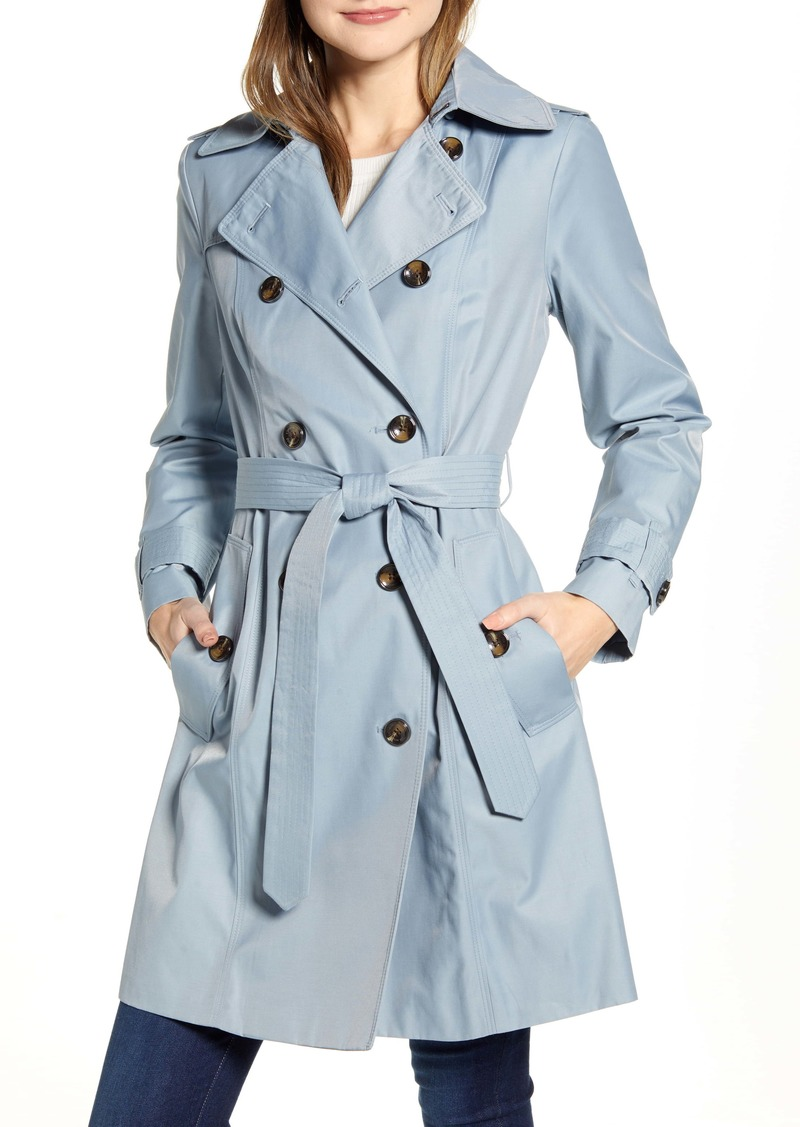 London Fog Double Breasted Trench Raincoat