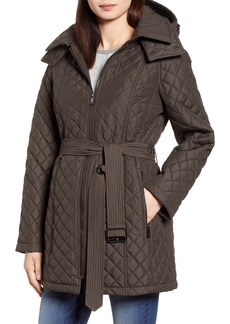 London Fog Heritage Diamond Quilted Hooded Jacket