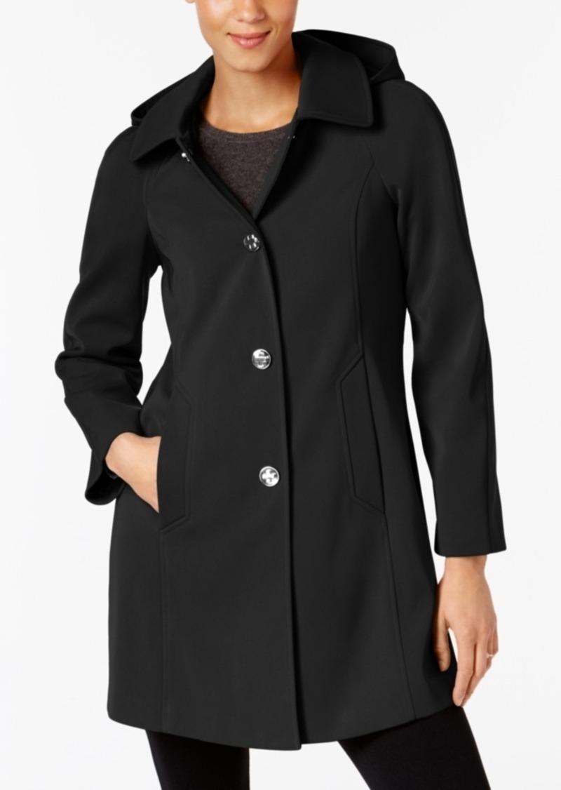 8c6ff41455c London Fog London Fog Hooded A-Line Raincoat