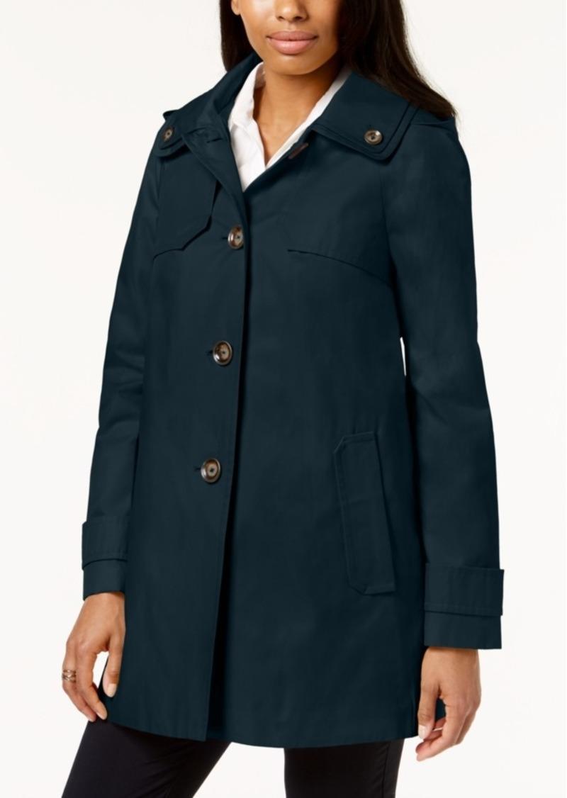 7b59c1cf343 London Fog London Fog Petite Hooded A-Line Raincoat