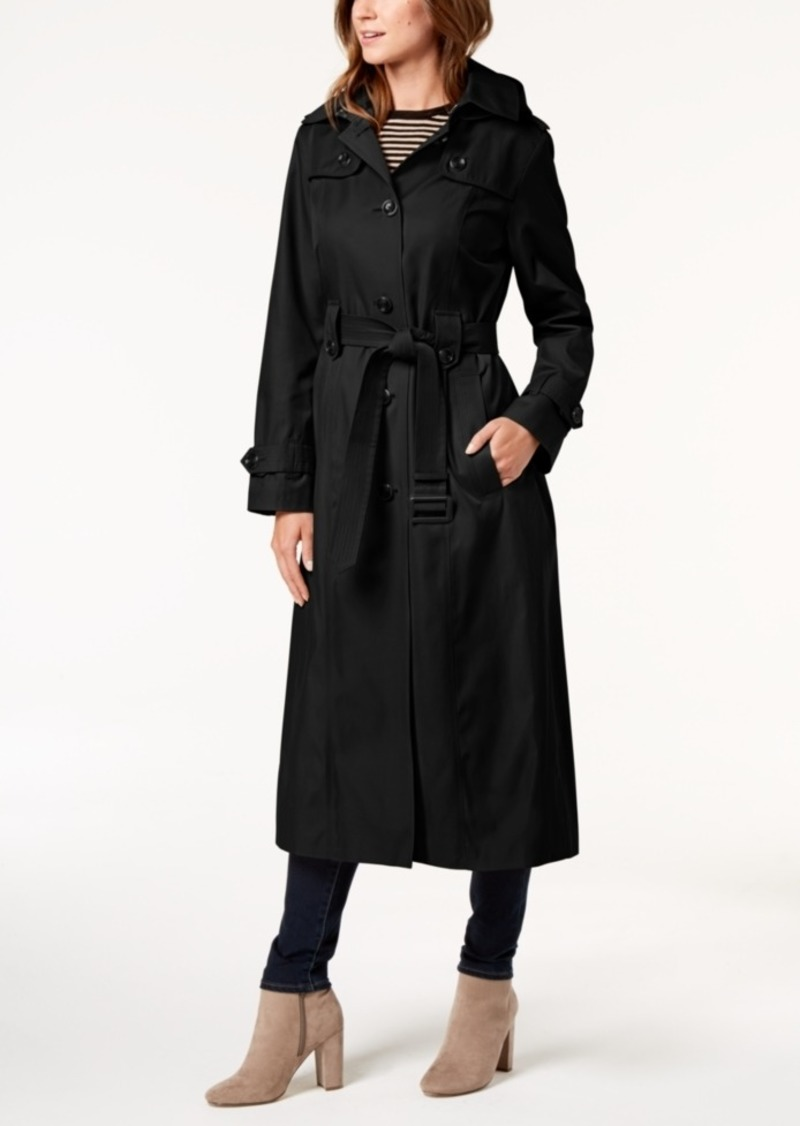 a70e05224 London Fog London Fog Hooded Belted Maxi Trench Coat Now  169.99