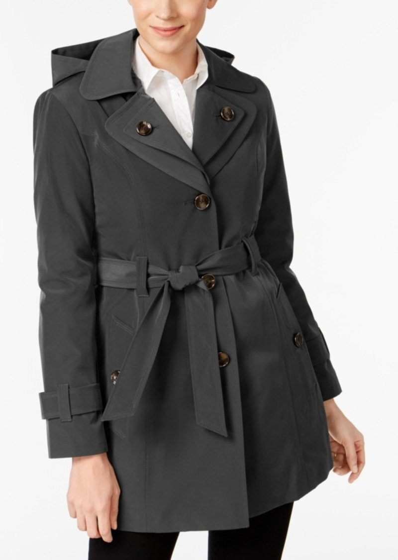 5d0f50021 London Fog London Fog Hooded Belted Trench Coat Now  109.99
