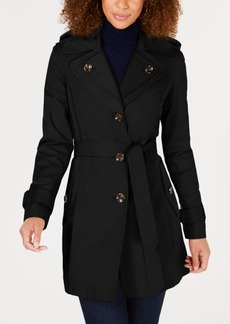 London Fog Plus Size Hooded Trench Coat