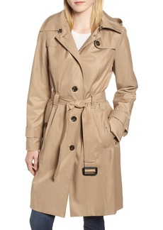 London Fog Knee Length Trench Coat (Regular & Petite)