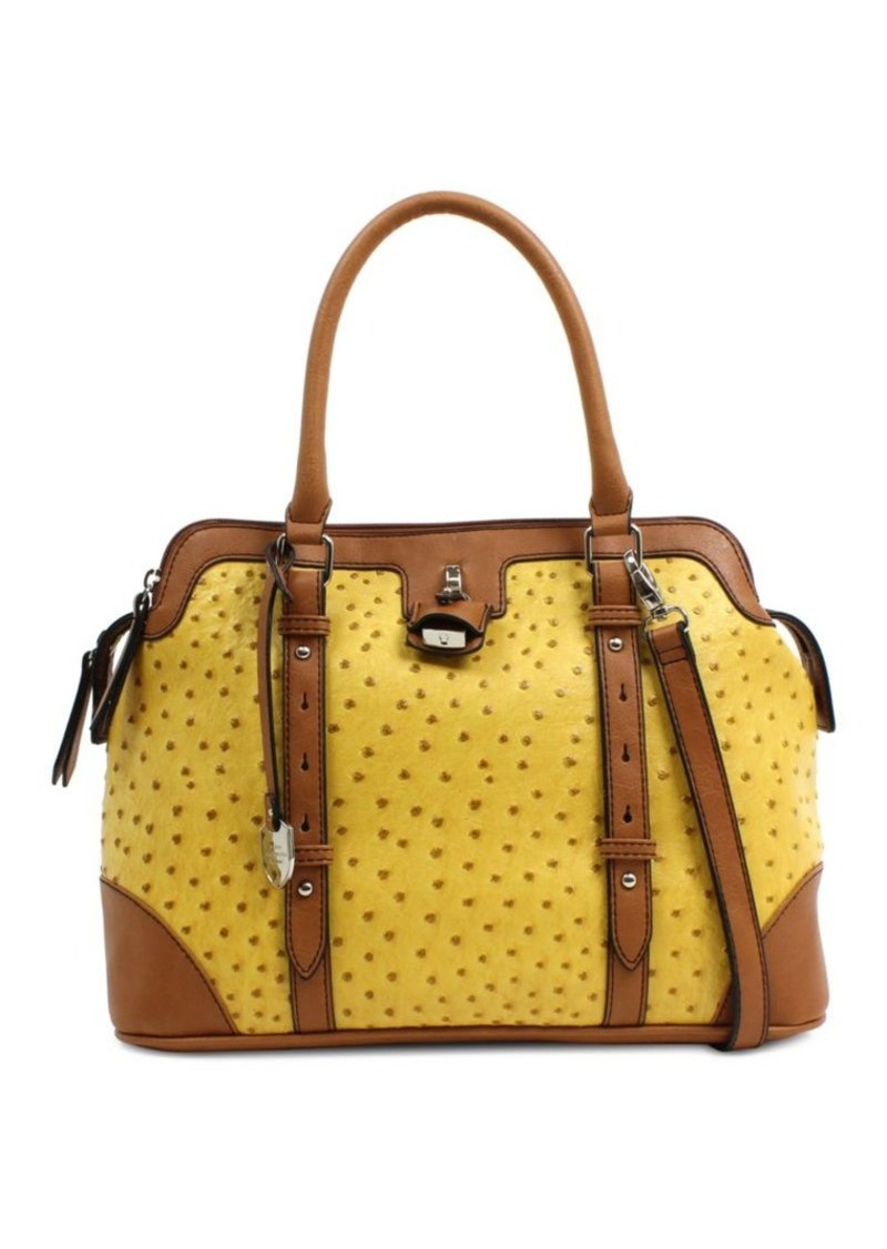 London Fog London Fog Lancaster Triple Vegan Leather Satchel
