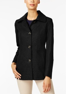 London Fog Layered-Collar Peacoat