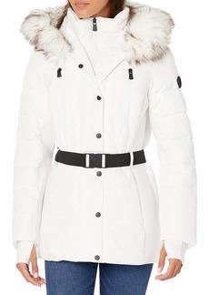 London Fog (LONAG) F.O.G. by London Fog Women's Hooded Short Belted Active Jacket  SM