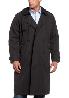 """LONDON FOG Men's 44"""" Micro Twill Double Breasted Trench Coat Regular"""