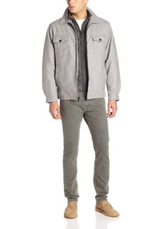 London Fog Men's Ashland Hipster Jacket with Quilted Bib