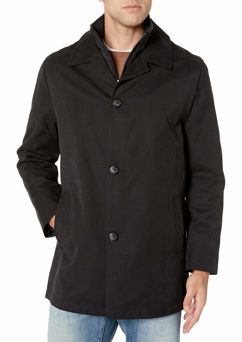 London Fog Men's Berne Micro Twill All Weather Coat  X Large