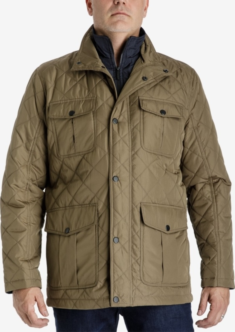 fa7fcb533 Men's Big & Tall Quilted Jacket with Zip Inset