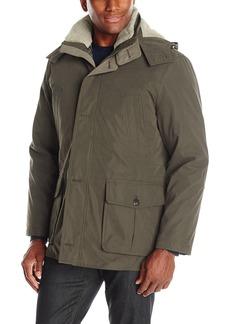 London Fog Men's Bonded Microfiber Parka with Detachable Sherpa Lined Hood  L