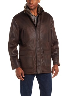 London Fog Men's Brimley Faux-Shearling Jacket