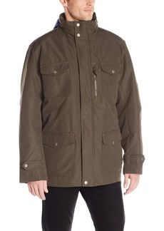London Fog Men's Brogan 3 In 1 Field Coat with Hidden Hood