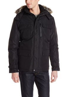 London Fog Men's Carson Down Filled Snorkel Parka With Detachable Hood