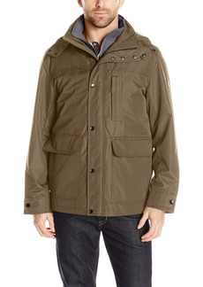 London Fog Men's Cotton Poly Cropped 3 in 1 Parka  M