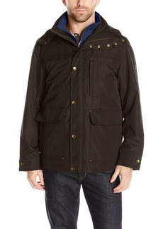 London Fog Men's Cotton Poly Cropped 3 in 1 Parka  XL