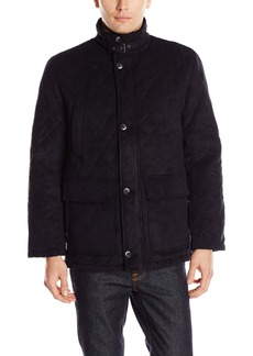 London Fog Men's Dellwood Diamond Quilted Field Coat