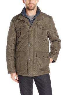 London Fog Men's Dewspo Quilt Field Coat with Bib  XL
