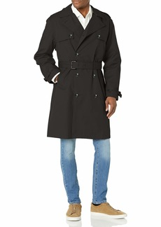 LONDON FOG Men's Double Breasted Stretch Trench Coat
