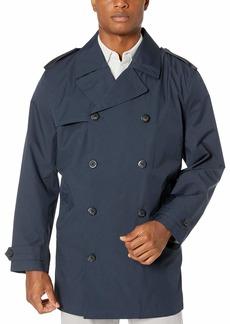 LONDON FOG Men's Fraser Short Double Breasted Rain Coat  XX Large