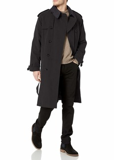 London Fog Men's Iconic Double Breasted Trench Coat with Zip-Out Liner and Removable Top Collar  R