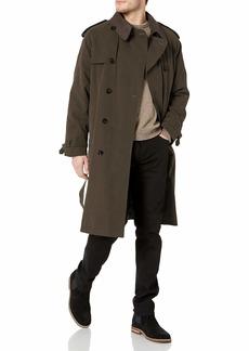 London Fog Men's Iconic Trench Coat  Green  Short